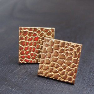 Mid-Century Woolno Textured Cuff Links